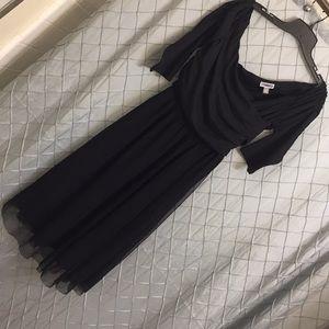Black dress with tulle skirt